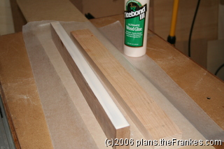 Edge-gluing the boards. No biscuits!
