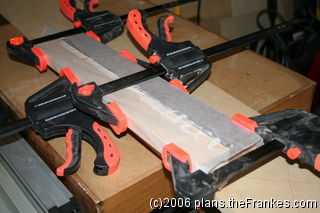 Clamping the edge-glued boards