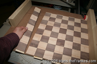 Initial chess board layout