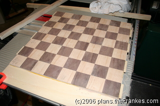Now it looks a little more like a chess board!