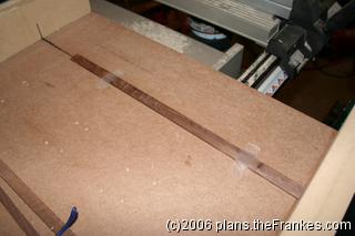 Don't try this with your fingers or without a crosscut sled!