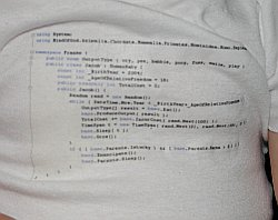 CodeOnesie: Personalized programming baby clothes!