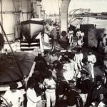 Bumbootsleute an Bord, Port Said