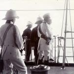 Der Kronprinz an Bord der Gneisenau