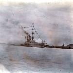 """""""Gneisenau"""" beim japanischen Kaisersalut vor Nanking"""
