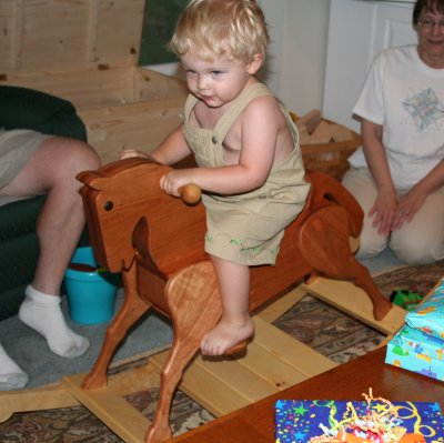 Maple and Cherry Rocking Horse