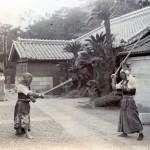 Japaner beim Fechtsport