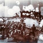 Gemäldeaufnahme: Japaner stürmen ein Fort
