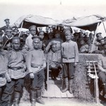 Russische Soldaten in Castriesbay, Sibirien