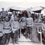 Russische Soldaten in Castriesbay, Sibirien