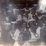 """Amerikaner von """"Saratoga"""" als Gäste bei uns an Bord"""