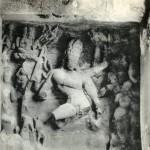 Aus Fels gehauenes Wandrelief im Budhatempel, Elephanta