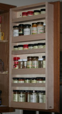 Maple spice rack