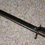 1897 Krag Bayonet in Scabbard with Belt Clip