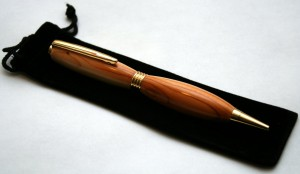 Handmade pen featured in video