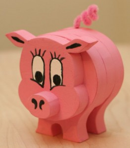 Wooden Pig Craft