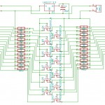 Schematic for 12-channel Bidirectional Logic Level Shifter