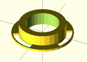 Encoder Wheel, OpenSCAD Arc