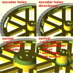 Highly Configurable Parametric Robot Wheel - Hub and Rim Styles