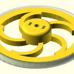 Highly Configurable Parametric Robot Wheel - Spiral variation