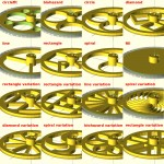 Highly Configurable Parametric Robot Wheel - Spoke Styles
